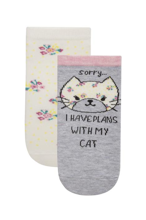 Pj Cat 2 İn 1 Liner Socks