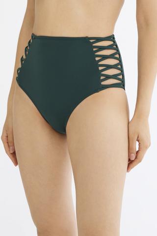 Basic Yüksek Bel Fashion Chilot Bikini
