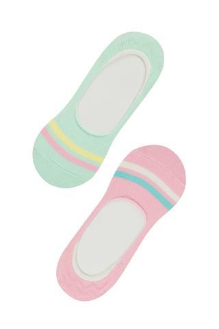 Set Şosete Balerini Fetițe Colorful 2 Buc.