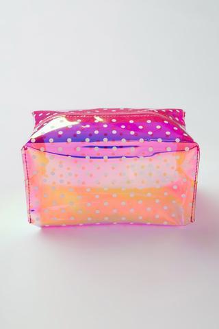 Pink Hologram Makyaj Çantası