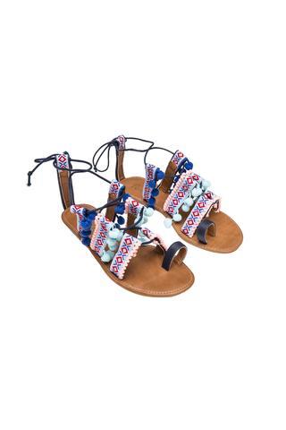 Sandale Pompom