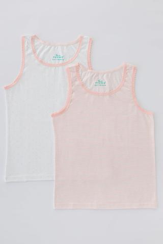 Girls Flat Stripe 2 In 1 Tank