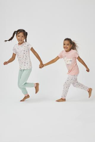 Girls Babe Miami 4in1 PJ Set