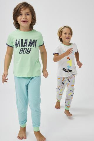 Boys Miami SS 4in1 PJ Set