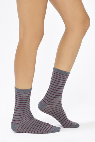 Bu4U Stripe 3 In 1 Socks