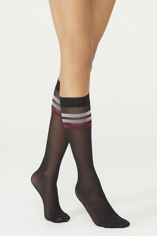 Colorful Strıpe Knee High Socks