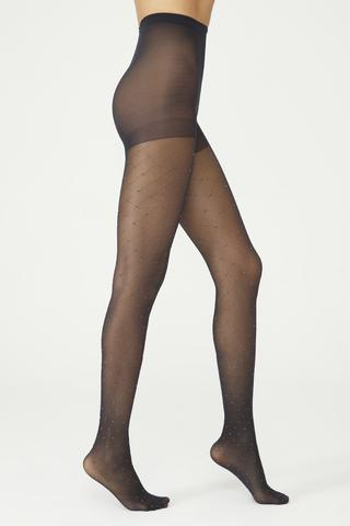Sılver Dıagonal Tights