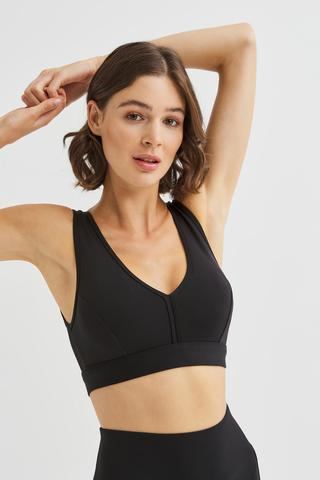 Fishnet Detailed Sports Bra
