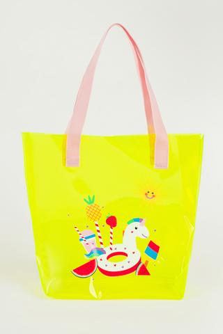 Girls Yellow Unicorn Bag