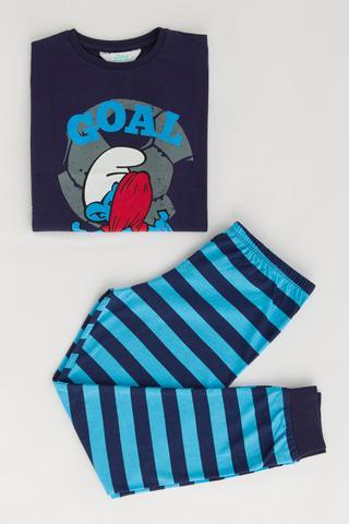 Boys Smurf Goal 2 In 1 PJ Set