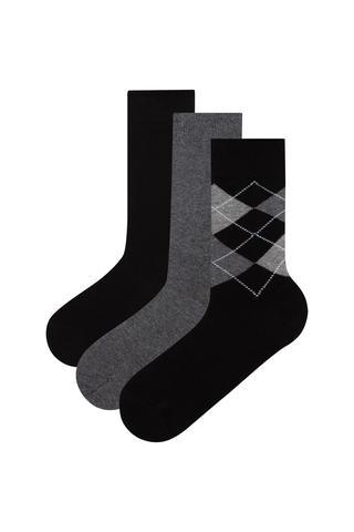 Men 3 In 1 Socks
