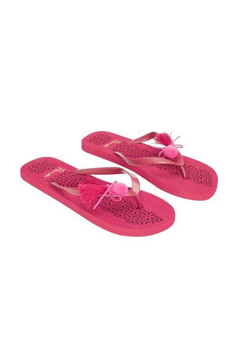 Pompom Flip Flops