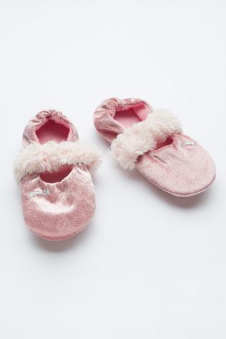Girls Velvet Ballerina Liner Socks