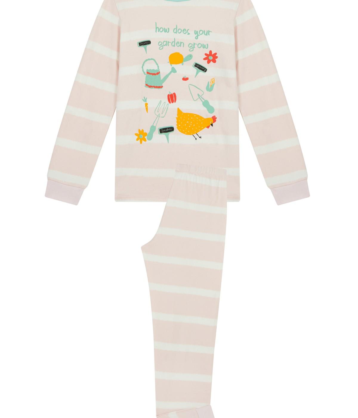 Set Pijama Feti?e Garden Thermal 2 Buc.