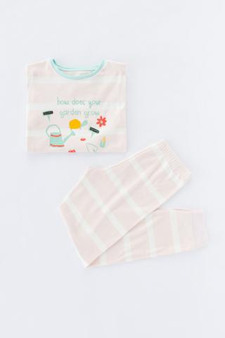 Girls Garden Thermal 2in1 PJ Set