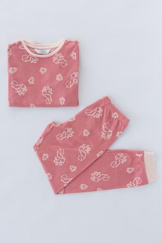 Girls Squirrel Thermal 2in1 PJ Set