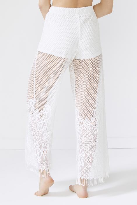 Lace Fringed Pants