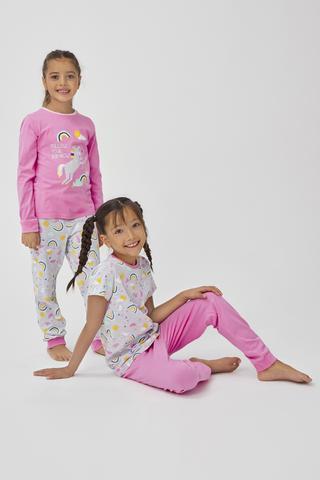 Set Pijama Feti?e Rainbow 4Buc.