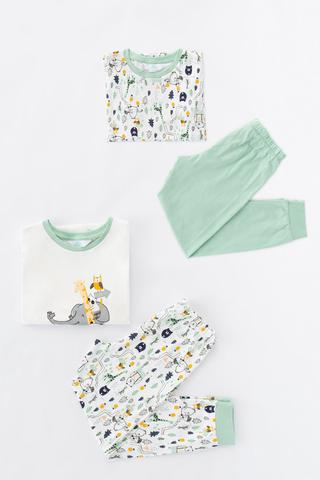 Boys Forest Selfie 4in1 PJ Set