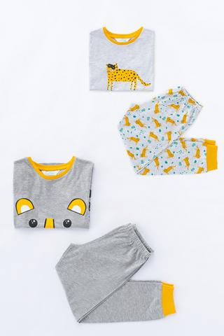 Boys Tiger SS 4in1 PJ Set
