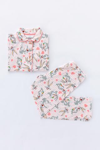 Set Pijama Fetite Pink Bugs 2Buc.