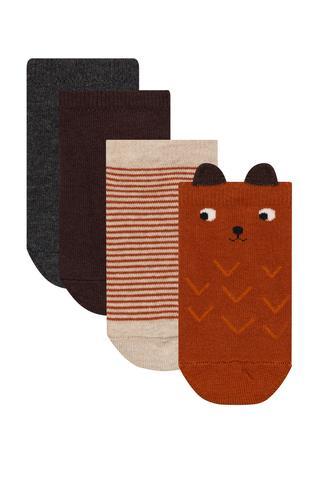 Boys Bear 4in1 Liner Socks