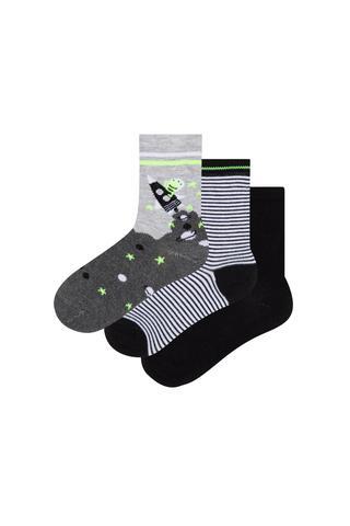 Boys Space 3in1 Socks