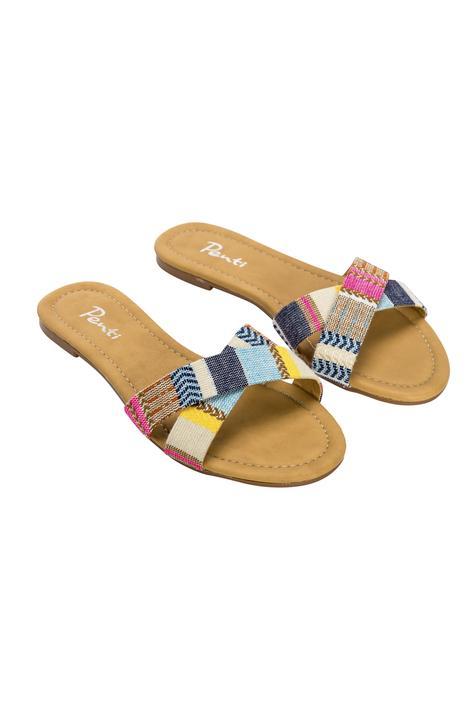 Ethnic Cross Slippers