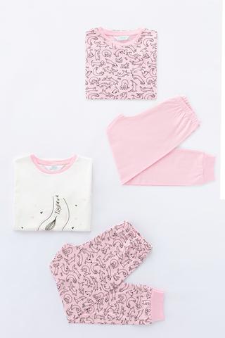 Set Pijama Fetite Cute Dog 4Buc.