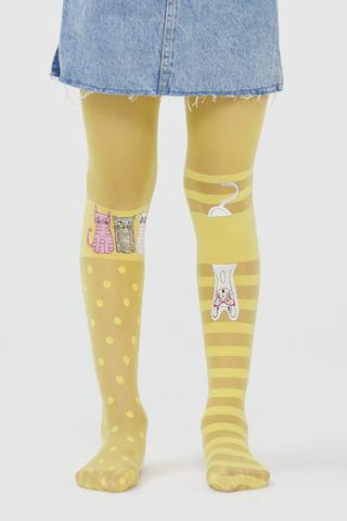 Pretty Wonderıng Cat Tights