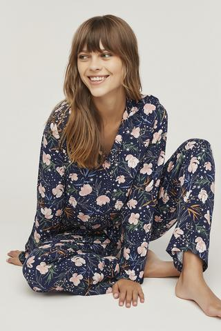 Set Pijama Flowers In Sky