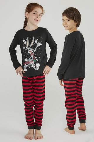 Set Pijama Unisex Bugs Stripe 2Buc.