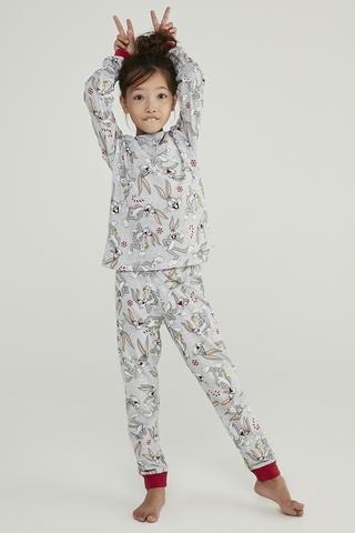 Set Pijama Unisex Printed Bugs 2 Buc.