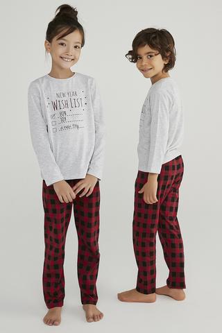 Set Pijama Family Wish List Gingham 2Buc.