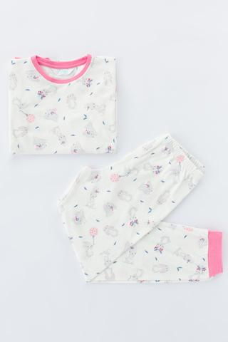 Set Pijama Feti?e Bunny Thermal 2 Buc.