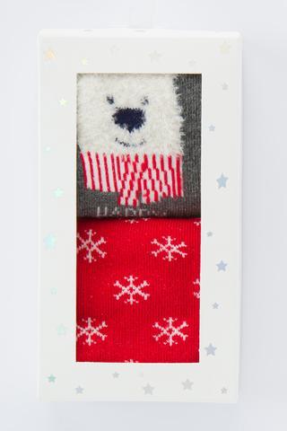 Unisex Bear 2in1 Socks
