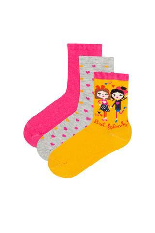 Girls Best Firends 3in1 Socks