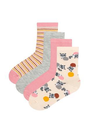 Girls Racoon 4in1 Socks