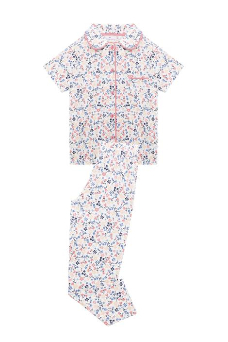Girls Flowery PJ Set