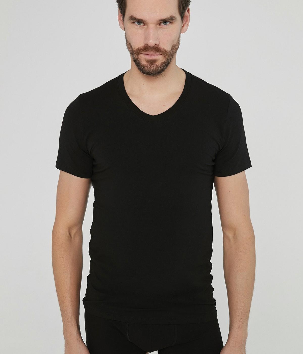 Bluza Basic V Neck Slim 2Buc.