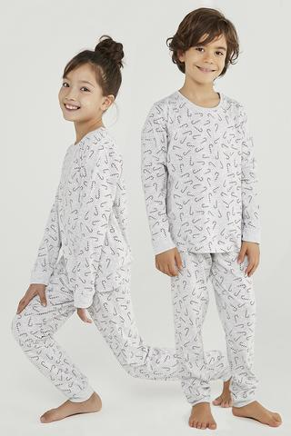 Unisex Candy Cane Gift 2in1 PJ Set
