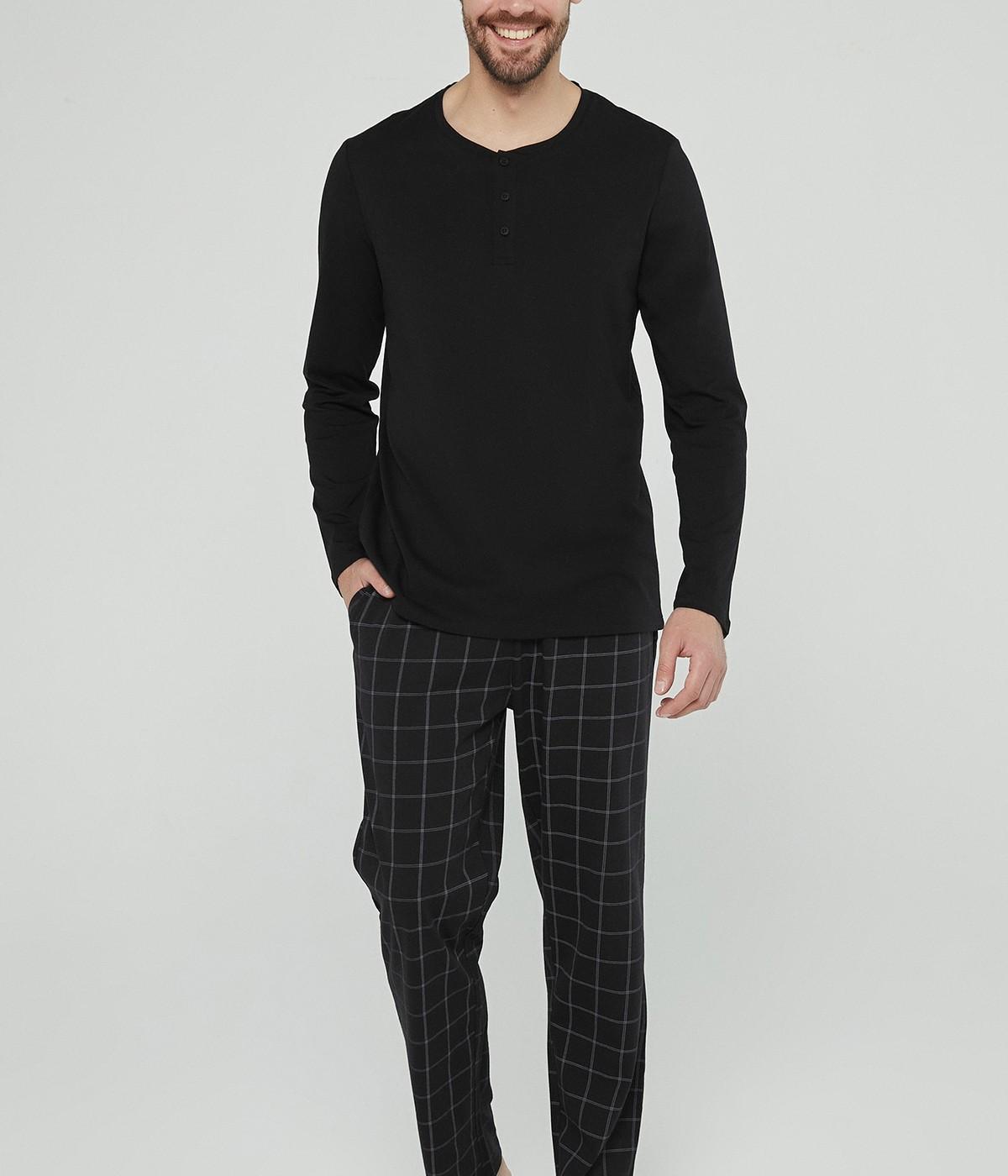 Set Pijama Dark Checked
