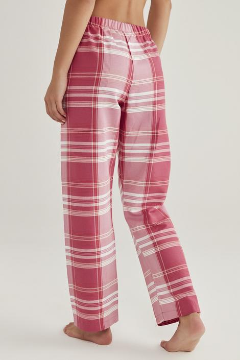Pantaloni Pink Checky