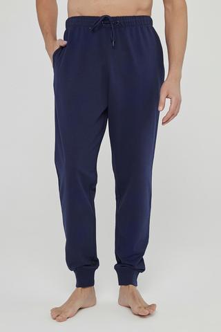 Pantaloni Basic Navy Cuff