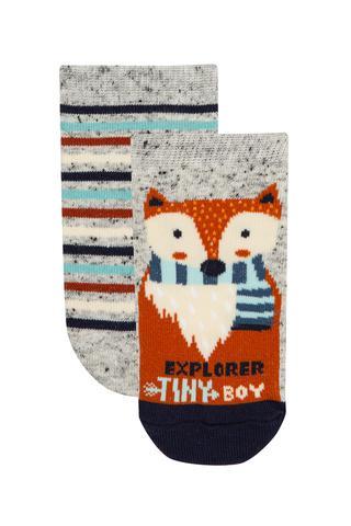 Boys Explorer Fox 2in1 Liner Socks