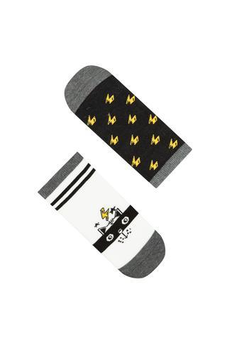 Boys Lightning Cat 2in1 Liner Socks