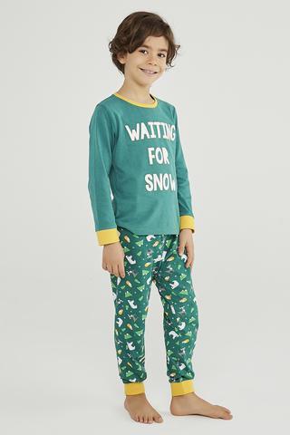 Set Pijama Baie?i Winter Story 2 Buc.