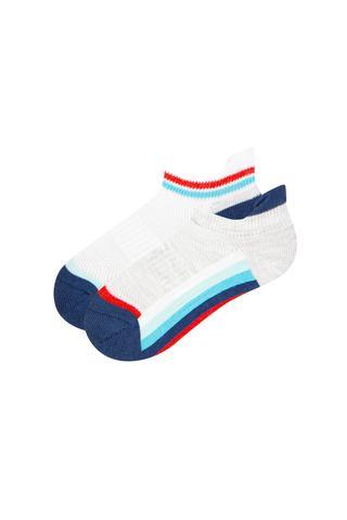 Boy Colorful Strıpe 2 In1 Liner Socks