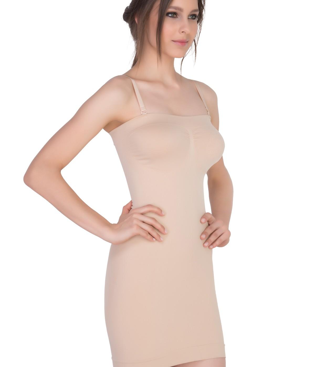 Seamless Strapless Corset Dress