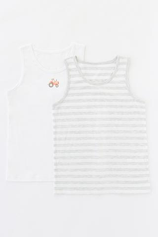 Boys Tractor 2In1 Cami